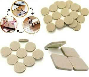 Heavy Duty BEIGE Felt Pads ~ SELF ADHESIVE Pads for Furniture Legs LARGE & SMALL