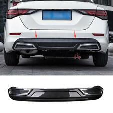 ABS Carbon fiber style Rear Bumper Board Guard trim 1pc For 2020 Nissan Sentra