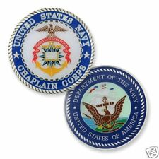 UNITED STATES NAVY MILITARY CHAPLAIN CHALLENGE COIN