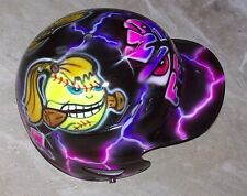 BATTING HELMET AIRBRUSHED FASTPITCH SOFTBALL PINK/PURPLE PERSONALIZED NEW