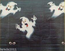 HALLOWEEN SCENE SETTER WALL DECORATION LARGE GHOST  REUSABLE BANNER 5 METRE LONG