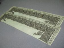 Antique Hand Embroidered Kashmir Oriental Paisley Shawl Tapestry Victorian 1900s