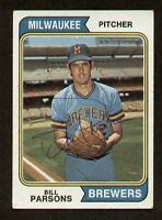 Bill Parsons #574 signed autograph auto 1974 Topps Baseball Trading Card