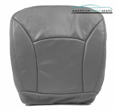 00-02Ford Van E350 E450 Shuttle Bus Diesel -Driver Bottom Vinyl Seat Cover GRAY