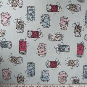 0.5 metre Bobbins Cotton Poplin - Aqua - 100% Cotton Fabric 147cm wide
