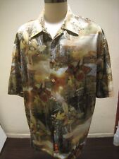 Vintage Fly Fishing Shirt from Raider Jean Co Polyester Wilderness Size 2XL
