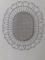 "Large Primitive Oval Antique Country 1930's French wire  basket 20""Lx13""Wx4.5""D"
