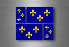 4x sticker flag car french king r2 bumper vinyl adhesive fleur de lis france