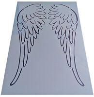 Shabby Chic plastic Stencil A4 sheet artistic angel wings wall furniture vintage