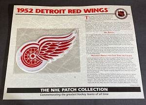 Willabee & Ward NHL Official Patch 1952 Detroit Red Wings