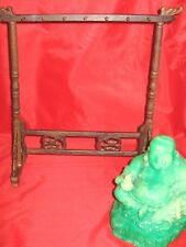 Small 14 Hook Wooden Chinese Calligraphy Sumi Brush Pen Holder Hanger Rack NIB