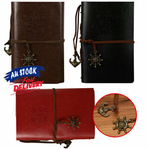 Notebook Classic Leather Journal Travel Retro Diary Sketchbook AU Cover