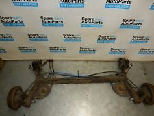 RENAULT CLIO MK3 185 SIZE REAR AXLE BEAM (DRUM TYPE WITH  ABS & HANDBRAKE CABLES