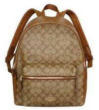 BRANDNEW AUTH COACH CHARLIE SIGNATURE BACKPACK LARGE - KHAKI SADDLE