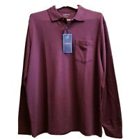 Men's Casual Sportswear by Croft & Barrow, Large Long Sleeve Polo Shirt, Cotton.