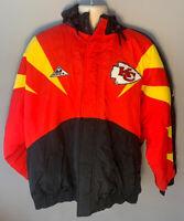 RARE KC Chiefs Vintage Apex One NFL Pro Line Jacket With Hood Sz Large Mens