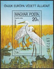 Magyar Posta/UNGHERIA blocco N. 146 a ** ARGENTO REIHER