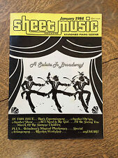 Sheet Music Magazine 1984 Back Issues Lot of 6 Piano Guitar Tablature Vintage
