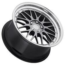 EuroTek UO3 19x8.5 5x114.3 Hyper Black Wheels Fits Hyundai Veloster Ex35 Fx35/45