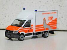 Herpa 95150 1/87 Volkswagen Crafter Ambulance Wolfsburg New In Box