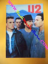 CARTOLINA PROMOZIONALE POSTCARD U2 Danrose BONO VOX 12x17 cm no*cd dvd lp mc