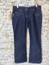 Blue stretch denim casual jeans diamante RIVER ISLAND SEXY BOOT Size 12S