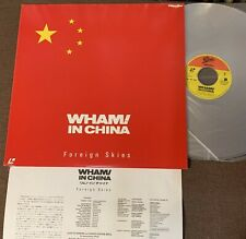 Wham! In China -Foreign Skies Japan Laser Disc Ld 98.4P-102 w/Insert 1986 issue
