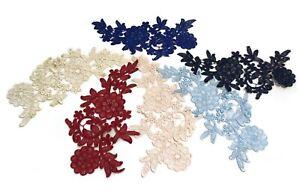 floral cotton lace applique dress sewing sew on lace motif patch various colours
