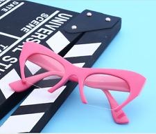 Vintage Half-rim Oversize Large Cat eyes Eyeglass frames Eyewear Glasses Pink