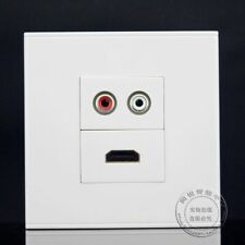 Wall Face Plate Red White RCA AV + 1.4 HDMI Port Socket Assorted Panel Faceplate