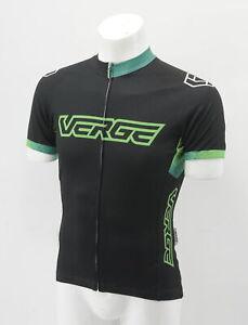 Verge Men's Small Elite-Relaxed Short Sleeve Jersey Vital Black/Green Brand New