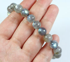 9.5mm Natural Labradorite Round Bead Bracelet BLB664