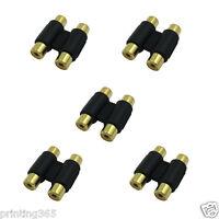 Chinch Cinch Cinc RCA Kabel Verbinder Verbindung 2x auf Buchse Kupplung weiblich