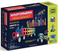 Magformers Magnetic Miracle Brain 258 Piece Construction Set 63093 + 40 Cards