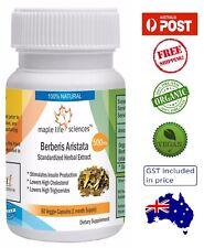 ORGANIC Berberis Aristata Capsules (Berberine) - Controls Blood Sugar - AU Stock