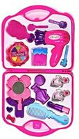 Girls Beauty Set - Play Hair Kit Kids Vanity Set with  Blow-dryer Mirror Brush
