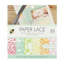 """American Crafts Dcwv 6"""" x 6"""" Paper Lace Cardstock Stack - Laser Cut Pages"""