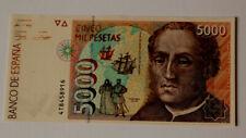 ESPAÑA/SPAIN. BILLETE/BANKNOTE 5000 pesetas de 1992. Serie 4T. Pick 165. SC/UNC.