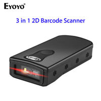 3 in 1 2.4G Wireless Bluetooth 1D 2D QR Bar Code Scanner Scanning PDF417 for IOS