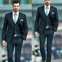 Men Suits Groom Tuxedo Wedding Business Formal Work Wear 3 Piece Blazer Pants
