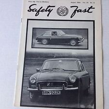 Safety Fast MG Car Club Magazine Golden Jubilee Lydden August 1980 070217nonrh