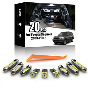 20x For Toyota Sequoia 2001-2007 Car Interior LED Ligh Package Kit + TOOL