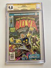 Nova #1 CGC 9.0 2x SS CGC Joe Sinnott Marv Wolfman Signature 1st Appearance Nova