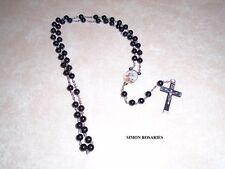 Simon Rosaries - handmade black rosary. - 8mm plastic beads. Veteran-made!