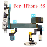 Replacement Power Sleep Volume Mute Switch Button 1PC Flex Cable For iPhone 5S
