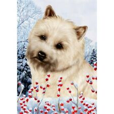 Winter House Flag - Wheaten Cairn Terrier 15094