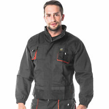 Mens Work Jacket Protective Builders Mechanic Coat Overalls Multiple Pockets