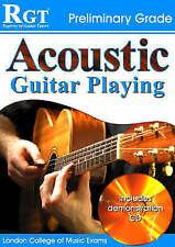 RGT Acoustic Guitar Playing Preliminary Grade Book Exam NEW FAST POST Plus CD