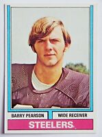 Barry Pearson #356 Topps 1974 Football Card (Pittsburgh Steelers) VG