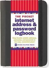 POCKET INTERNET ADDRESS & PASSWORD LOGBOOK - PETER PAUPER PRESS (COR) - NEW BOOK